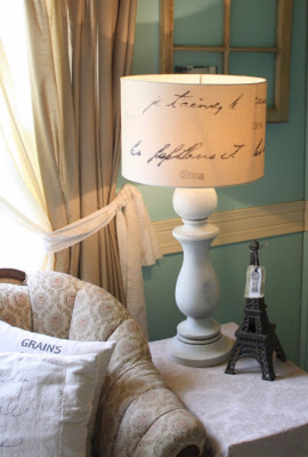 Shabby Chic Decor and Bedding Ideas - Love Letter Lamp - Rustic and Romantic Vintage Bedroom, Living Room and Kitchen Country Cottage Furniture and Home Decor Ideas. Step by Step Tutorials and Instructions http://diyjoy.com/diy-shabby-chic-decor-bedding