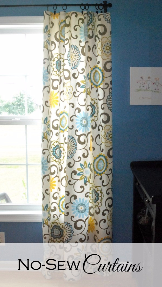 40 DIY Ways to Dress Up Boring Windows - No Sew Curtains - Cool Crafts and DIY Ideas to Make Awesome Bedrooms, Living Room Decor - Easy No Sew Ideas, Cheap Ideas for Makeovers, Painting and Sewing Tutorials With Step by Step Instructions for Awesome Home Decor