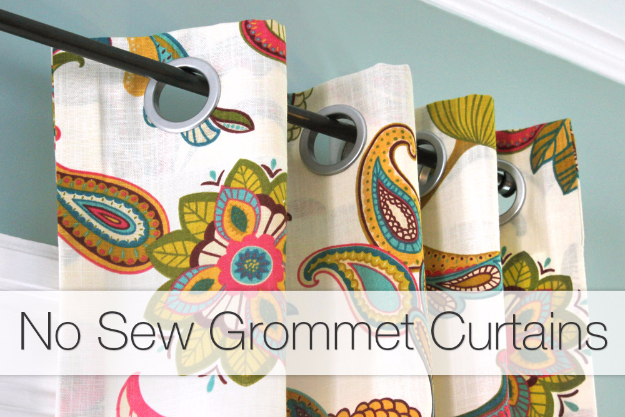 50 DIY Curtains and Drapery Ideas - No Sew Grommet Curtains Tutorial - Easy No Sew Ideas and Step by Step Tutorials for Drapes and Curtain Ideas - Cheap and Creative Projects for Bedroom, Living Room, Kitchen, Kids and Teen Rooms - Simple Draperies for Fabric, Made Out of Sheets, Blackout Curtains and Valances #sewing #diydecor #drapes #decoratingideas