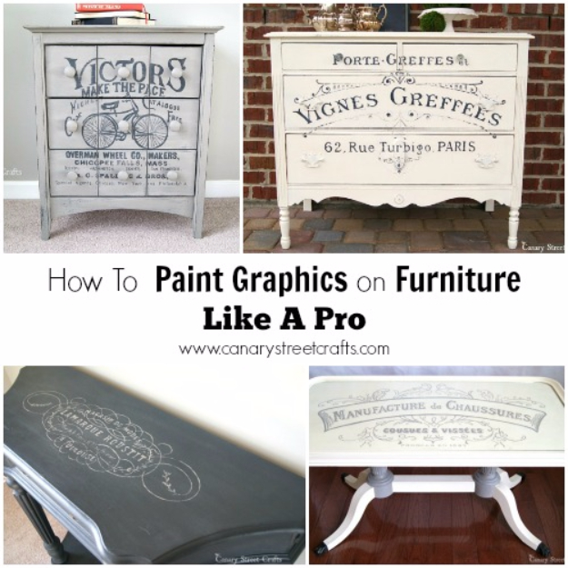 32 DIY Paint Techniques and Recipes - Paint Graphics On A Furniture Like A Pro - Cool Painting Ideas for Walls and Furniture - Awesome Tutorials for Stencil Projects and Easy Step By Step Tutorials for Painting Beautiful Backgrounds and Patterns. Modern, Vintage, Distressed and Classic Looks for Home, Living Room, Bedroom and More