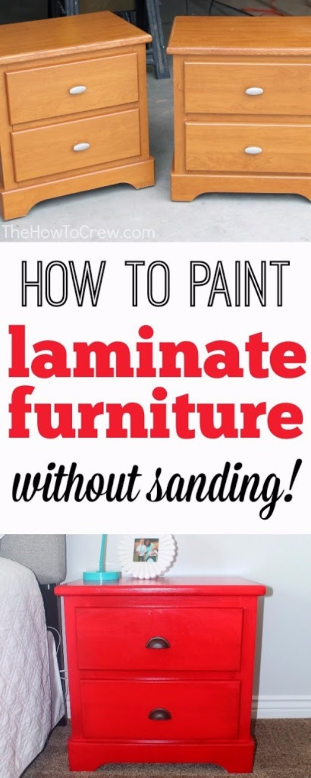 DIY Furniture Refinishing Tips - Paint Laminate Furniture Without Sanding - Creative Ways to Redo Furniture With Paint and DIY Project Techniques - Awesome Dressers, Kitchen Cabinets, Tables and Beds - Rustic and Distressed Looks Made Easy With Step by Step Tutorials - How To Make Creative Home Decor On A Budget