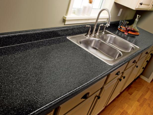 DIY Kitchen Makeover Ideas - Paint Laminate Kitchen Countertops - Cheap Projects Projects You Can Make On A Budget - Cabinets, Counter Tops, Paint Tutorials, Islands and Faux Granite. Tutorials and Step by Step Instructions http://diyjoy.com/diy-kitchen-makeovers
