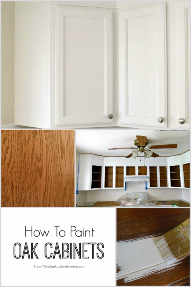 32 DIY Paint Techniques and Recipes - Paint Oak Cabinets - Cool Painting Ideas for Walls and Furniture - Awesome Tutorials for Stencil Projects and Easy Step By Step Tutorials for Painting Beautiful Backgrounds and Patterns. Modern, Vintage, Distressed and Classic Looks for Home, Living Room, Bedroom and More