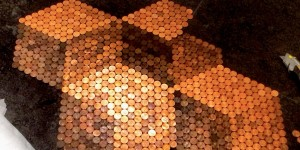 She Uses Hundreds of Pennies To Make a DIY Unlike Anything You've Ever Seen…