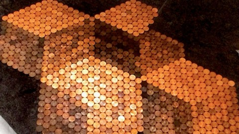 She Uses Hundreds of Pennies To Make a DIY Unlike Anything You've Ever Seen… | DIY Joy Projects and Crafts Ideas