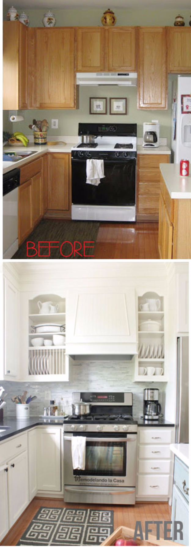 37 brilliant diy kitchen makeover ideas page 3 of 8 - Kitchen cabinet diy makeover ...