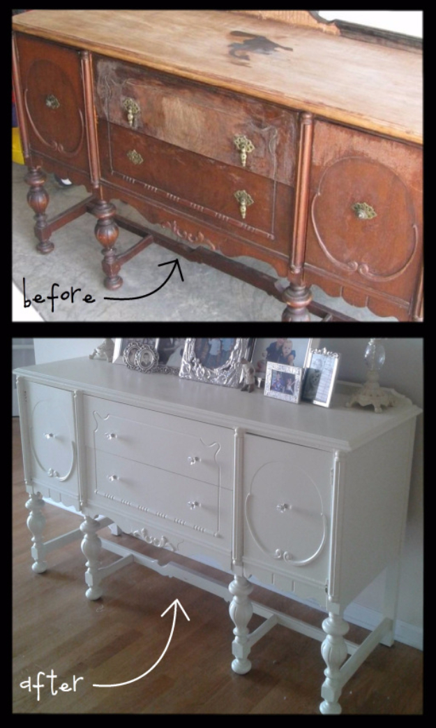 Upcycled Furniture Projects - Refinished Furniture Piece - Repurposed Home Decor and Furniture You Can Make On a Budget. Easy Vintage and Rustic Looks for Bedroom, Bath, Kitchen and Living Room. #upcycled #diyideas #diyfurniture