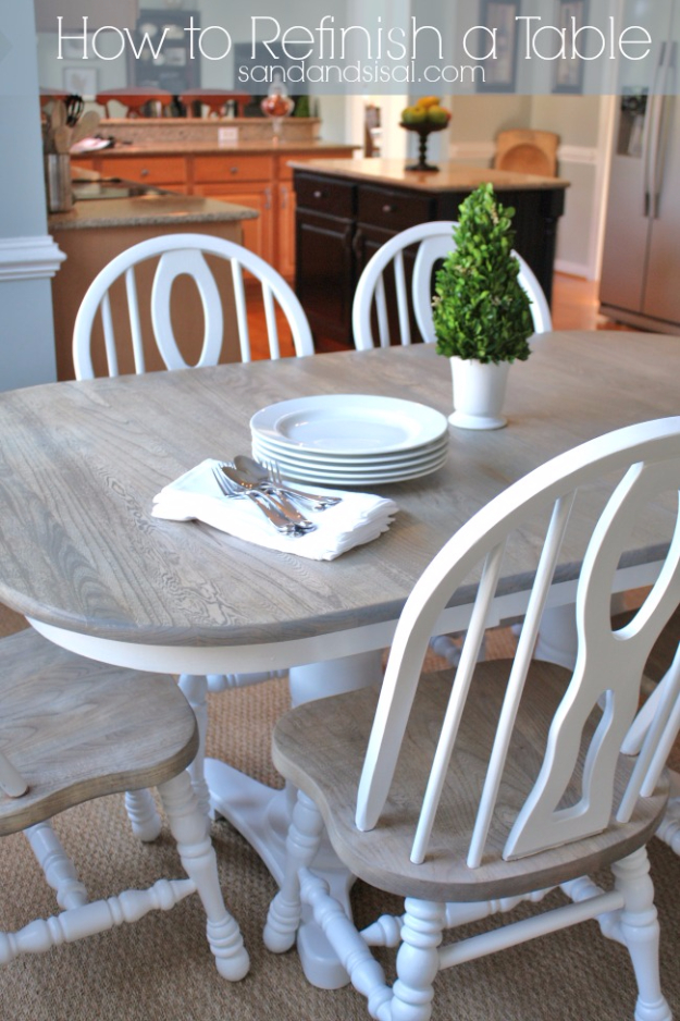 diy furniture refinishing tips refinishing a table creative ways