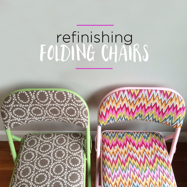 DIY Furniture Refinishing Tips - Refinishing Folding Chairs - Creative Ways to Redo Furniture With Paint and DIY Project Techniques - Awesome Dressers, Kitchen Cabinets, Tables and Beds - Rustic and Distressed Looks Made Easy With Step by Step Tutorials - How To Make Creative Home Decor On A Budget