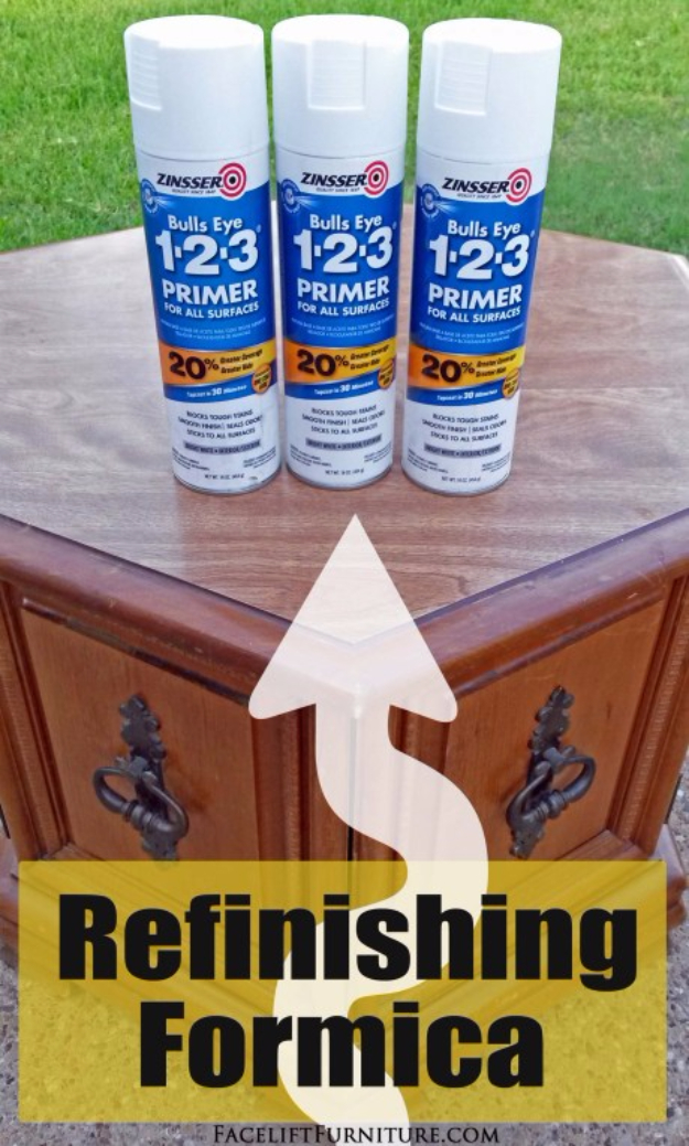 DIY Furniture Refinishing Tips - Refinishing Formica Laminate Furniture - Creative Ways to Redo Furniture With Paint and DIY Project Techniques - Awesome Dressers, Kitchen Cabinets, Tables and Beds - Rustic and Distressed Looks Made Easy With Step by Step Tutorials - How To Make Creative Home Decor On A Budget