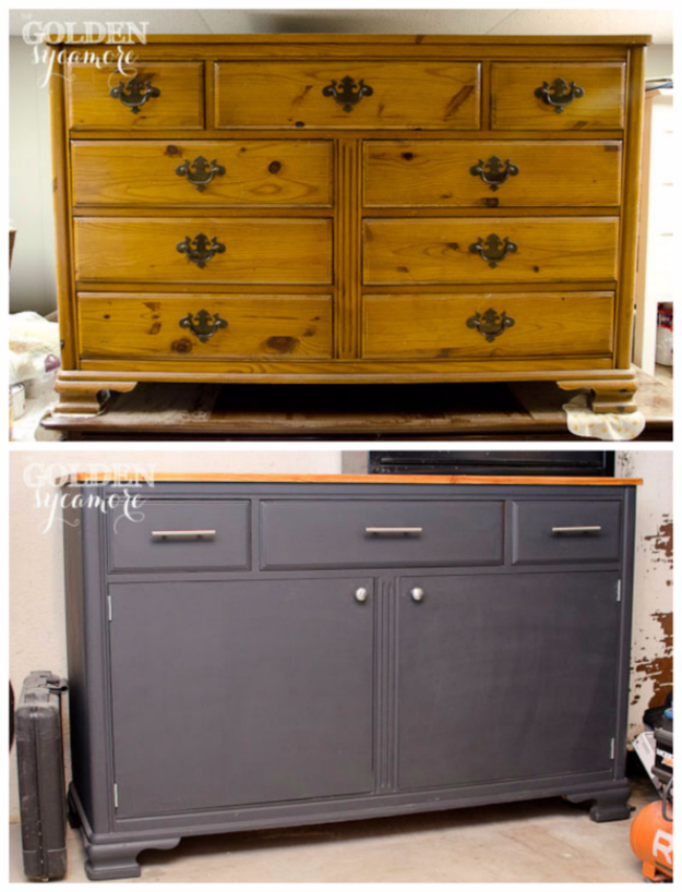 Upcycled Furniture Projects - Repurposed Dresser Into Tool Chest - Repurposed Home Decor and Furniture You Can Make On a Budget. Easy Vintage and Rustic Looks for Bedroom, Bath, Kitchen and Living Room. #upcycled #diyideas #diyfurniture