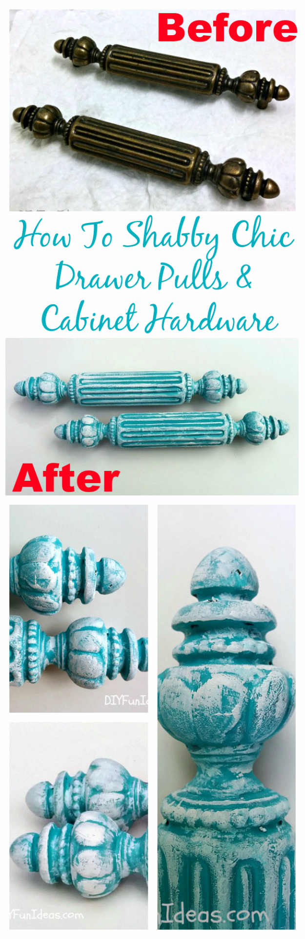 Shabby Chic Decor and Bedding Ideas - Shabby Chic Antique Cabinet Hardware And Drawer Pulls - Rustic and Romantic Vintage Bedroom, Living Room and Kitchen Country Cottage Furniture and Home Decor Ideas. Step by Step Tutorials and Instructions http://diyjoy.com/diy-shabby-chic-decor-bedding