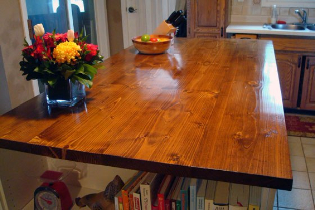 DIY Kitchen Makeover Ideas - Staining And Waterproofing A Wood Countertop - Cheap Projects Projects You Can Make On A Budget - Cabinets, Counter Tops, Paint Tutorials, Islands and Faux Granite. Tutorials and Step by Step Instructions