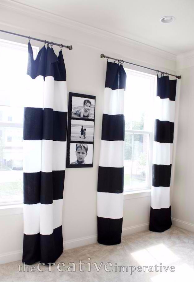 40 DIY Ways to Dress Up Boring Windows - Tablecloth Curtains - Cool Crafts and DIY Ideas to Make Awesome Bedrooms, Living Room Decor - Easy No Sew Ideas, Cheap Ideas for Makeovers, Painting and Sewing Tutorials With Step by Step Instructions for Awesome Home Decor