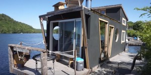 Pontoon Boat Tiny House