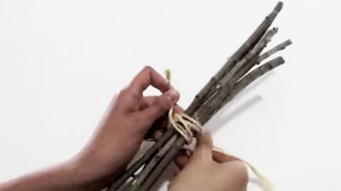 She Ties Up Some Twigs and Spends 0$ To Make This Designer Copycat. (WATCH!) | DIY Joy Projects and Crafts Ideas