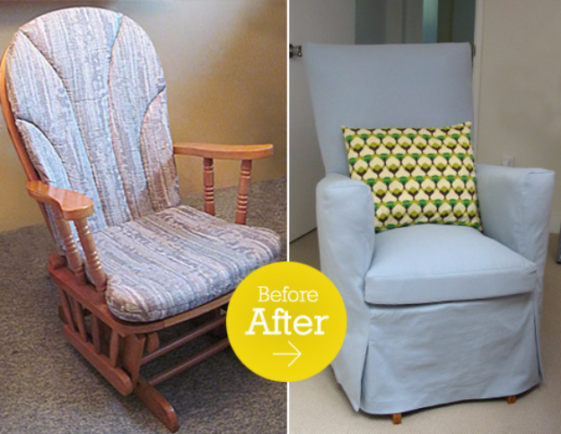 DIY Furniture Refinishing Tips - Update A Glider - Creative Ways to Redo Furniture With Paint and DIY Project Techniques - Awesome Dressers, Kitchen Cabinets, Tables and Beds - Rustic and Distressed Looks Made Easy With Step by Step Tutorials - How To Make Creative Home Decor On A Budget