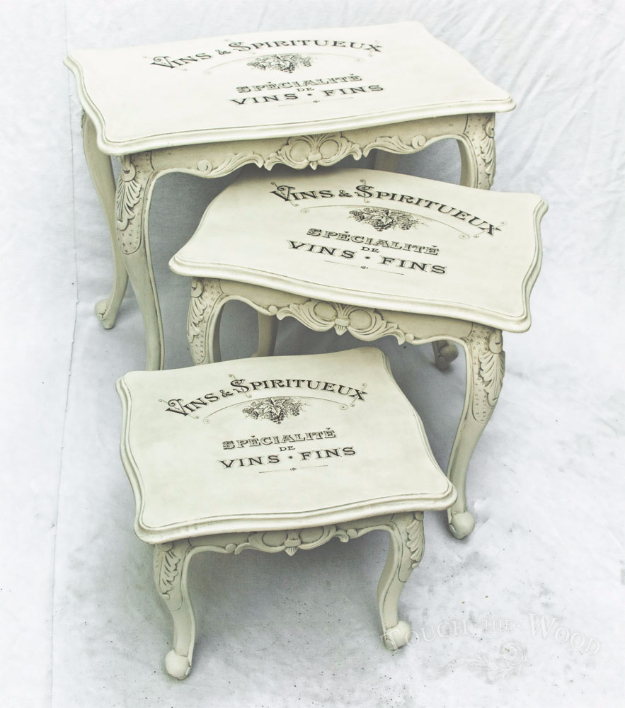 Shabby Chic Decor and Bedding Ideas - Vintage Shabby Chic Nest Of Tables - Rustic and Romantic Vintage Bedroom, Living Room and Kitchen Country Cottage Furniture and Home Decor Ideas. Step by Step Tutorials and Instructions http://diyjoy.com/diy-shabby-chic-decor-bedding