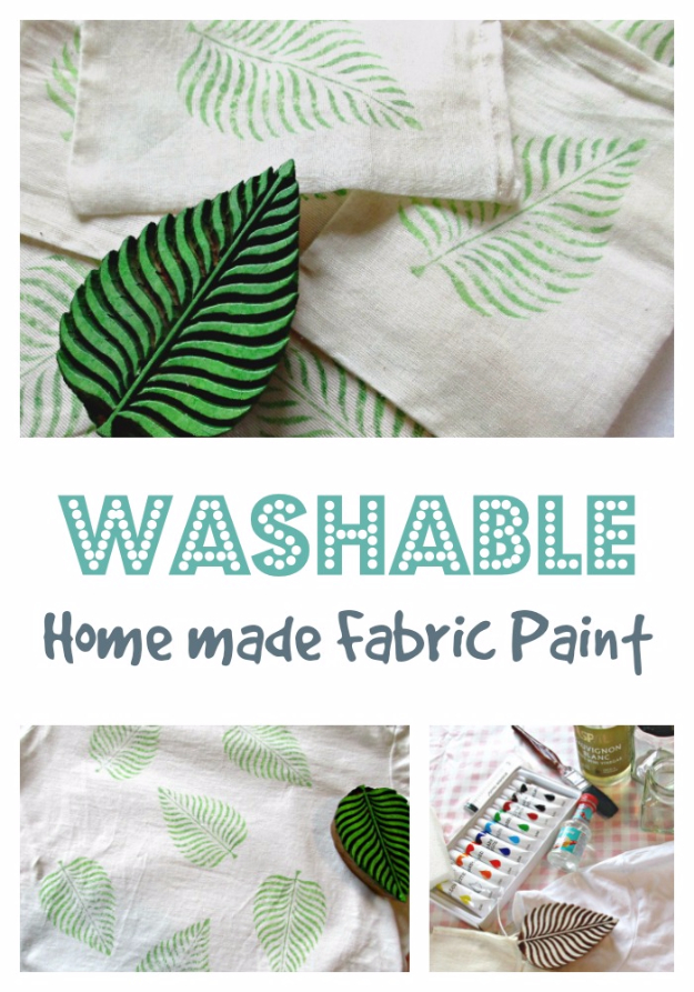 32 DIY Paint Techniques and Recipes - Washable Homemade Fabric Paint - Cool Painting Ideas for Walls and Furniture - Awesome Tutorials for Stencil Projects and Easy Step By Step Tutorials for Painting Beautiful Backgrounds and Patterns. Modern, Vintage, Distressed and Classic Looks for Home, Living Room, Bedroom and More