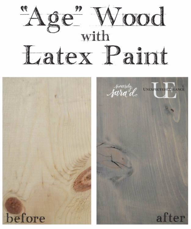 32 DIY Paint Techniques and Recipes - Weathered Look Using Latex Paint - Cool Painting Ideas for Walls and Furniture - Awesome Tutorials for Stencil Projects and Easy Step By Step Tutorials for Painting Beautiful Backgrounds and Patterns. Modern, Vintage, Distressed and Classic Looks for Home, Living Room, Bedroom and More