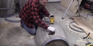 Watch What He Does With This Old Whiskey Barrel…FABULOUS!