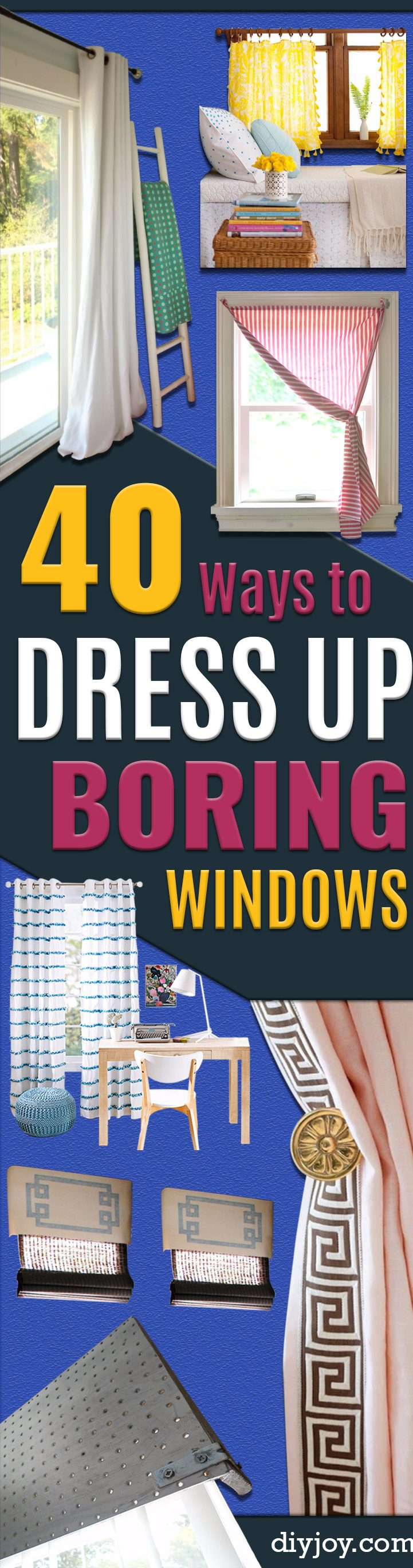 40 DIY Ways to Dress Up Boring Windows - Cool Crafts and DIY Ideas to Make Awesome Bedrooms, Living Room Decor - Easy No Sew Ideas, Cheap Ideas for Makeovers, Painting and Sewing Tutorials With Step by Step Instructions for Awesome Home Decor