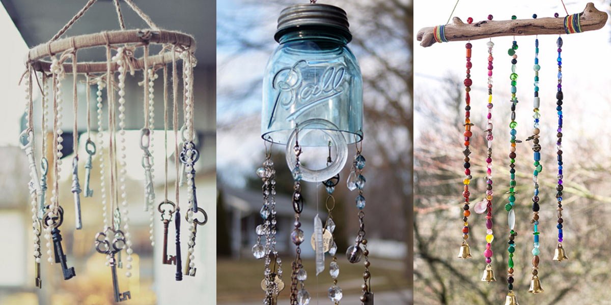 31 diy wind chimes for Homemade chimes