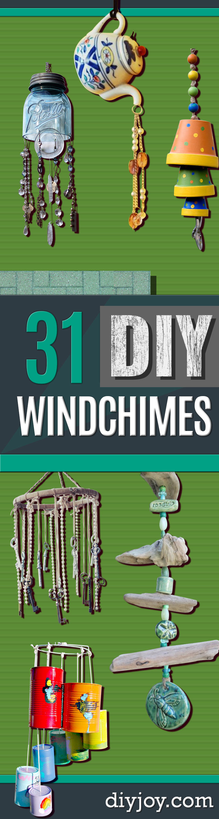 DIY Wind Chimes - Easy, Creative and Cool Windchimes Made from Wooden Beads, Pipes, Rustic Boho and Repurposed Items, Silverware, Seashells and More. Step by Step Tutorials and Instructions