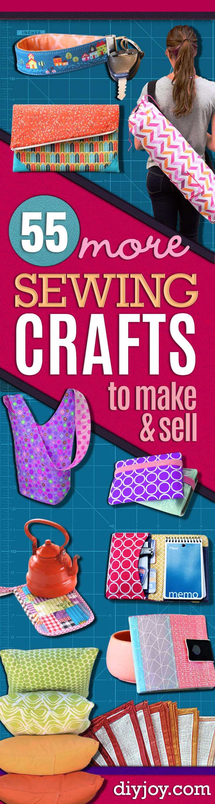 Sewing Crafts To Make and Sell - Easy DIY Sewing Ideas To Make and Sell for Your Craft Business. Make Money with these Simple Gift Ideas, Free Patterns, Products from Fabric Scraps, Cute Kids Tutorials