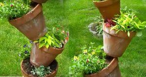 Gardening DIY: Tipsy Pot Planter