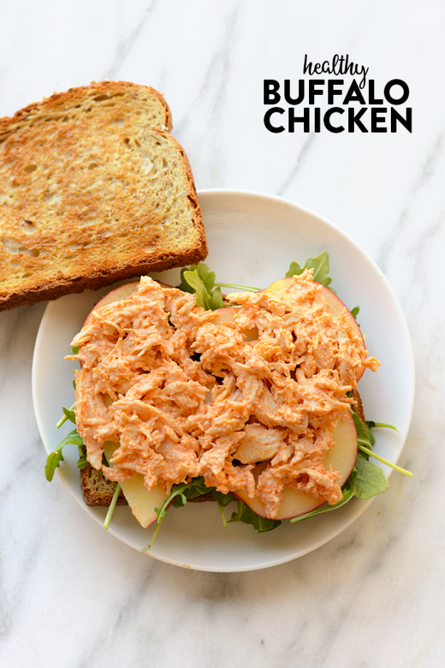 33 Easy Three Ingredient Recipes - 3 Ingredient Healthy Buffalo Chicken Recipe - Quick And Healthy 3 Ingredients Recipe Ideas for Breakfast, Lunch, Dinner, Appetizers, Snacks and Desserts - Cookies, Chicken, Crockpot Ideas, Baking and Microwave Recipes and Tutorials #easyrecipes #quickrecipes