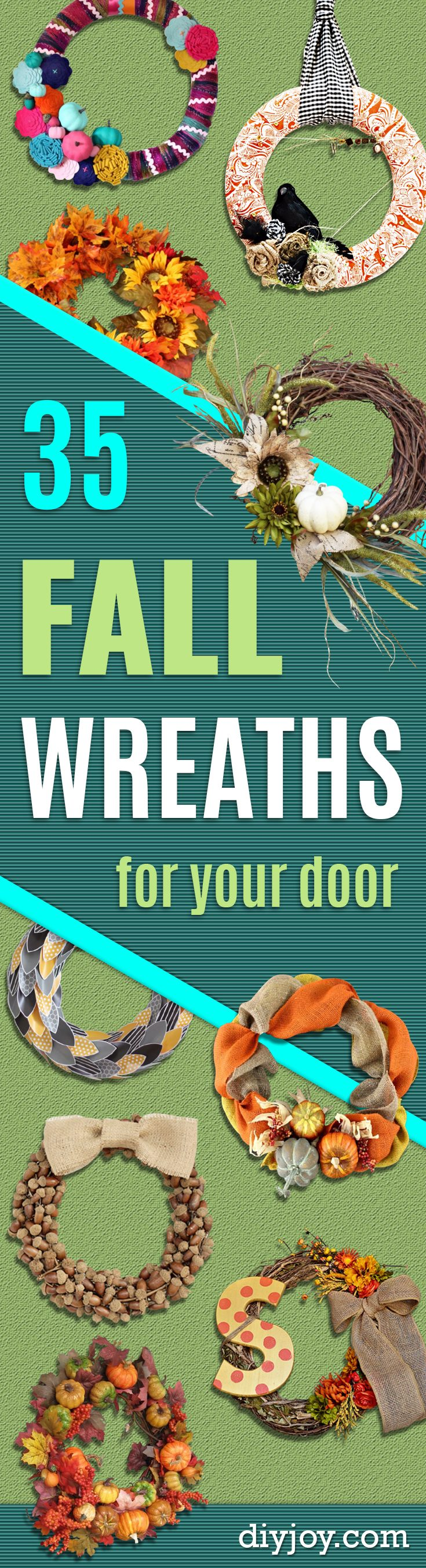 DIY Fall Wreaths for Your Door - Fall Wreaths For Front Door, Fall Wreaths Ideas To Try, Easy DIY Fall Wreaths, Brilliant Fall Wreath DIY, Porch Decor, Cool Ideas For Fall, Fall Projects