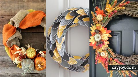 35 DIY Fall Wreaths for Your Door   DIY Joy Projects and Crafts Ideas