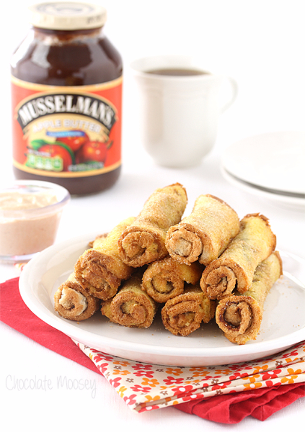 33 Easy Recipes for Back To School - Apple Butter French Toast Roll Ups - Quick and Delicious Recipe Ideas for Kids and Adults. Pack for School Lunches, Make Ahead for Work, Freeze and Store for Early Morning Breakfasts, Super Lunch Meals, Simple Snacks and Dinner