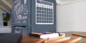 She Found A Fridge On Craigslist And Shows How To Make An Absolutely Cool Chalkboard On It!