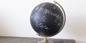 She Makes A Chalkboard Globe After Buying A Cheap Globe At The Thrift Store!