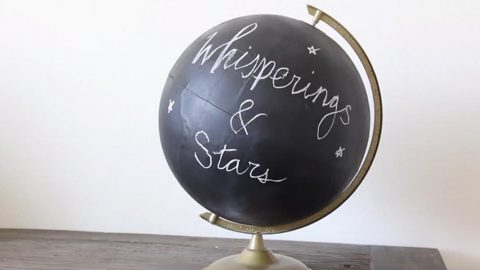 She Makes A Chalkboard Globe After Buying A Cheap Globe At The Thrift Store! | DIY Joy Projects and Crafts Ideas