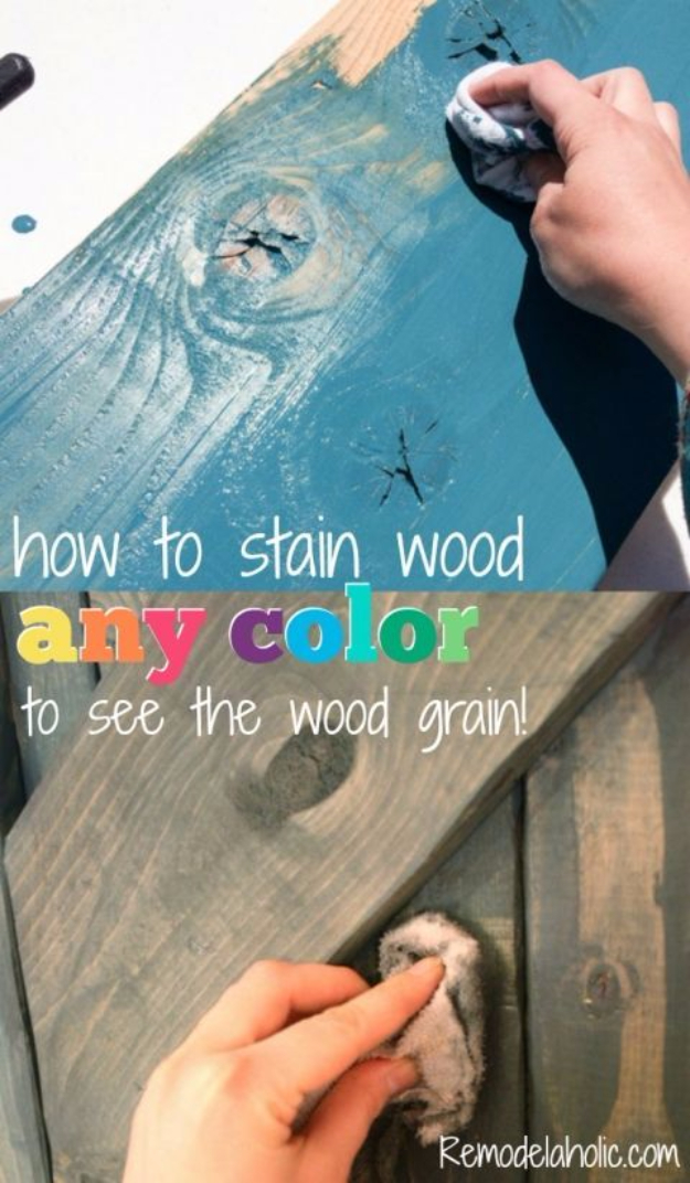 Cool Woodworking Tips - Color Washing To See The Wood Grain - Easy Woodworking Ideas, Woodworking Tips and Tricks, Woodworking Tips For Beginners, Basic Guide For Woodworking #woodworking