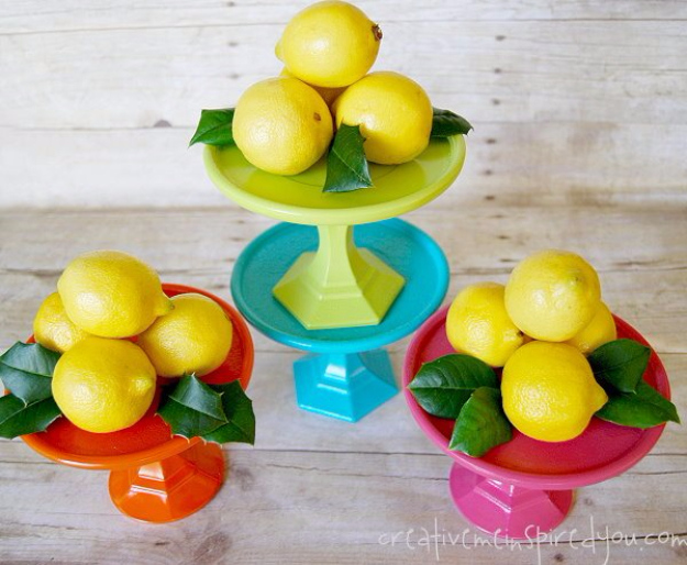 Dollar Store Crafts - Colorful and Cute Dollar Store Cake Stands - Best Cheap DIY Dollar Store Craft Ideas for Kids, Teen, Adults, Gifts and For Home #dollarstore #crafts #cheapcrafts #diy