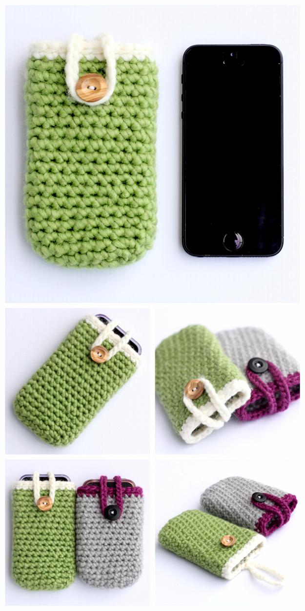35 Easy Crochet Patterns - Crochet Iphone Case - Crochet Patterns For Beginners, Quick And Easy Crochet Patterns, Crochet Ideas To Try, Crochet Ideas To Make And Sell, Easy Crochet Ideas #crochet #crochetpatterns #diygifts