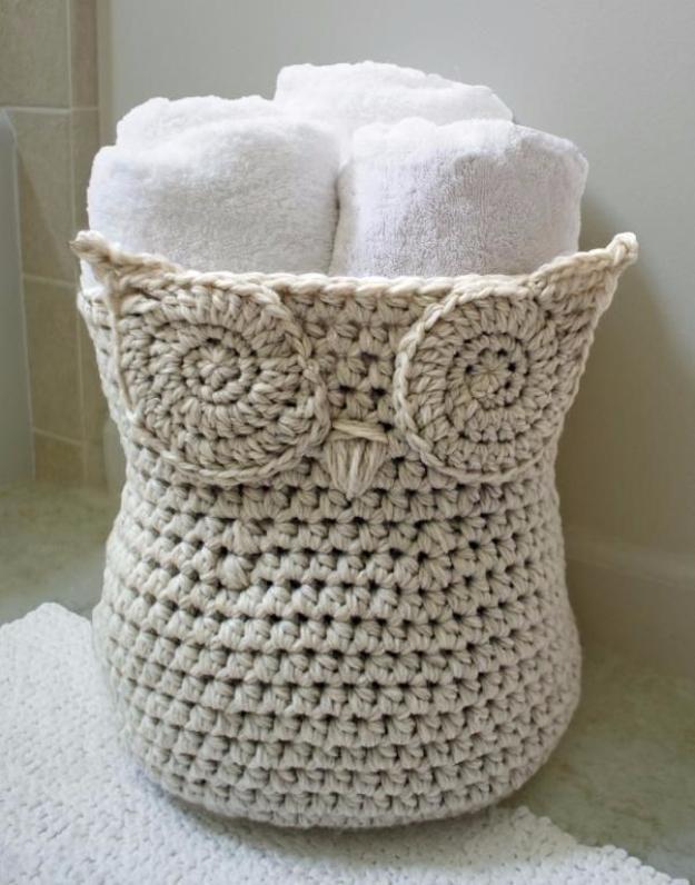 35 Easy Crochet Patterns - Crochet Owl Baskets - Crochet Patterns For Beginners, Quick And Easy Crochet Patterns, Crochet Ideas To Try, Crochet Ideas To Make And Sell, Easy Crochet Ideas #crochet #crochetpatterns #diygifts