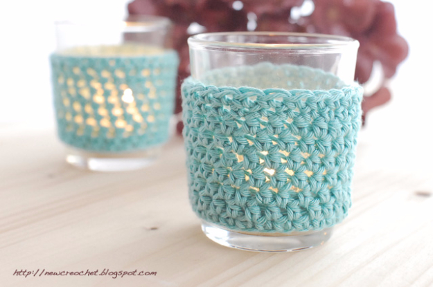35 Easy Crochet Patterns - Crochet Tealight Covers - Crochet Patterns For Beginners, Quick And Easy Crochet Patterns, Crochet Ideas To Try, Crochet Ideas To Make And Sell, Easy Crochet Ideas #crochet #crochetpatterns #diygifts
