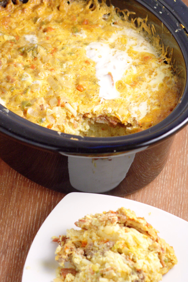 Crock Pot Overnight Breakfast Casserole