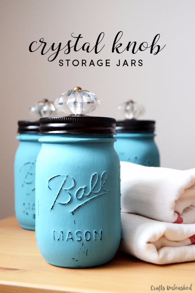 Quick Last Minute DIY Gifts You Can Make - Crystal Knob Storage Jars - Easy and Quick Last Minute DIY Gift Ideas for Mom, Dad, Him or Her, Freinds, Teens, Kids, Girls and Boys. Fast Crafts and Fun Ideas in A Jar, Birthday Presents - Step by Step Tutorials #diygifts #xmas #christmasgifts #quickgifts