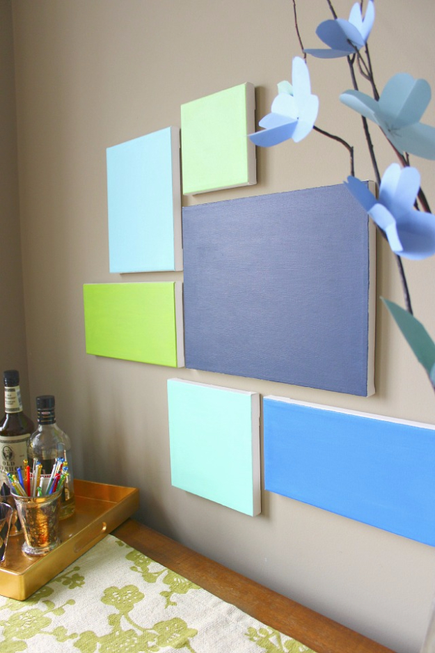 DIY Wall Art Ideas for the Bedroom - DIY Canvas Art - Rustic Decorating Projects For Bedroom, Brilliant Wall Art Projects, Creative Wall Art, Do It Yourself Crafts, Easy Wall Art, Bedroom Decor on a Budget, Bedroom - Paintings, Canvas Art Ideas, Wall Hangings