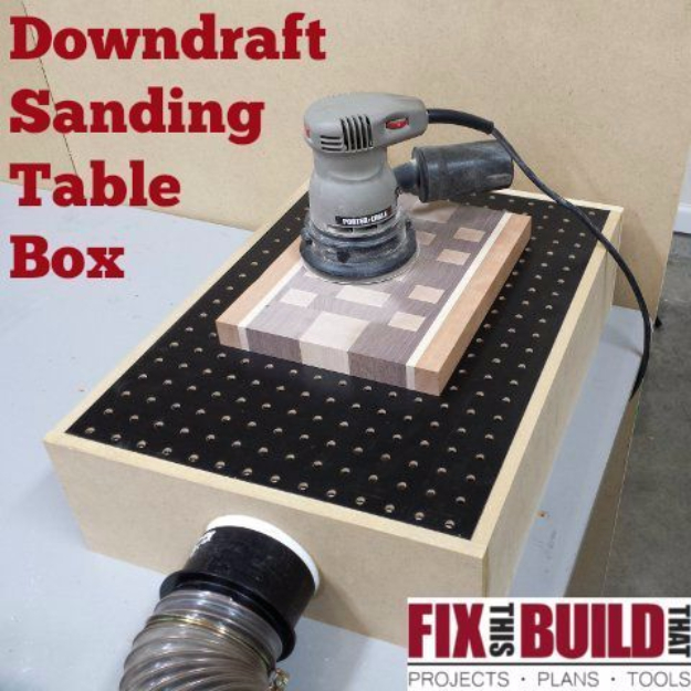 Cool Woodworking Tips - DIY Downdraft Sanding Table Box - Easy Woodworking Ideas, Woodworking Tips and Tricks, Woodworking Tips For Beginners, Basic Guide For Woodworking #woodworking