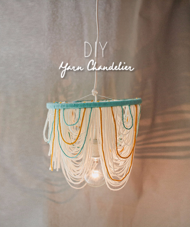 Clever Diys Made With Yarn Diy Easy Chandelier Crafts To Try