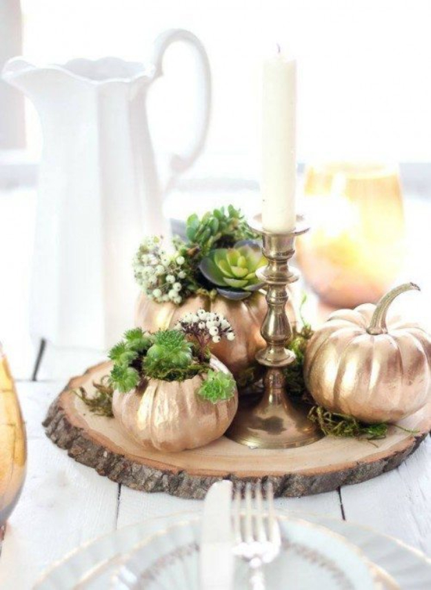 34 Pumpkin Decorations For Fall - DIY Fall Pumpkin Planter - Easy DIY Pumpkin Decor Ideas for Home, Yard, Outdoors - Cool Pumpkin Decorating Ideas for Adults and Kids Party, Creative Crafts With Paint, Glitter and No Carve Projects for Halloween