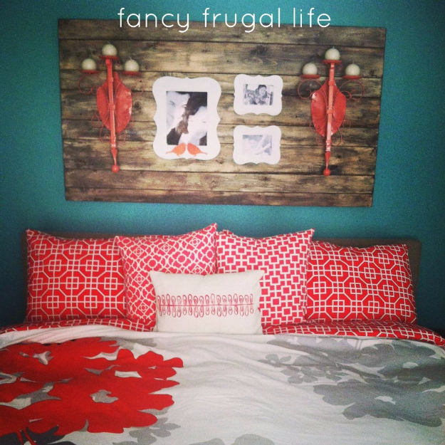 DIY Wall Art Ideas for the Bedroom - DIY Faux Barn Wood Wall Art - Rustic Decorating Projects For Bedroom, Brilliant Wall Art Projects, Creative Wall Art, Do It Yourself Crafts, Easy Wall Art, Bedroom Decor on a Budget, Bedroom - Paintings, Canvas Art Ideas, Wall Hangings