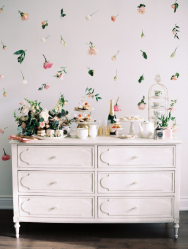 Easy DIY Projects - DIY Floating FLower Wall - Easy DIY Crafts and Projects - Simple Craft Ideas for Beginners, Cool Crafts To Make and Sell, Simple Home Decor, Fast DIY Gifts, Cheap and Quick Project Tutorials #diy #crafts #easycrafts